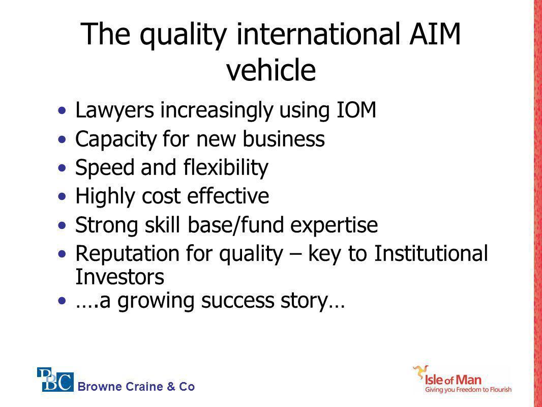 The quality international AIM vehicle