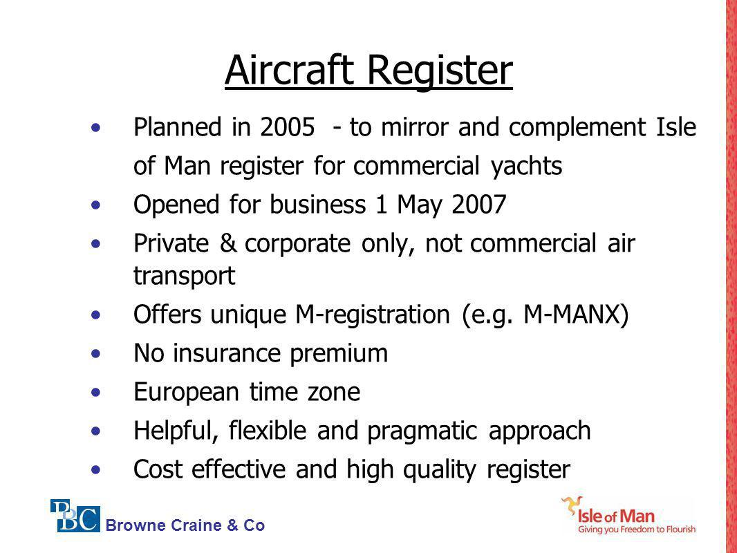 Aircraft Register Planned in 2005 - to mirror and complement Isle