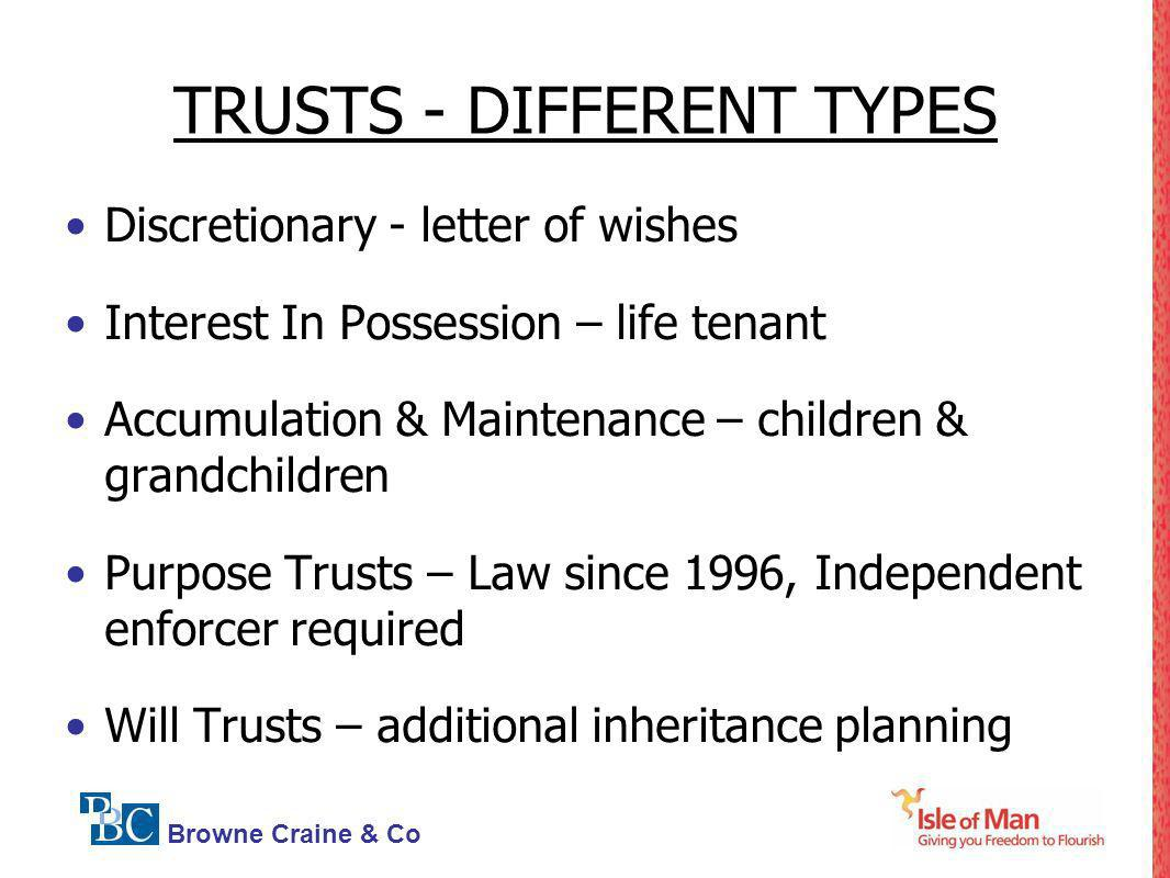 TRUSTS - DIFFERENT TYPES
