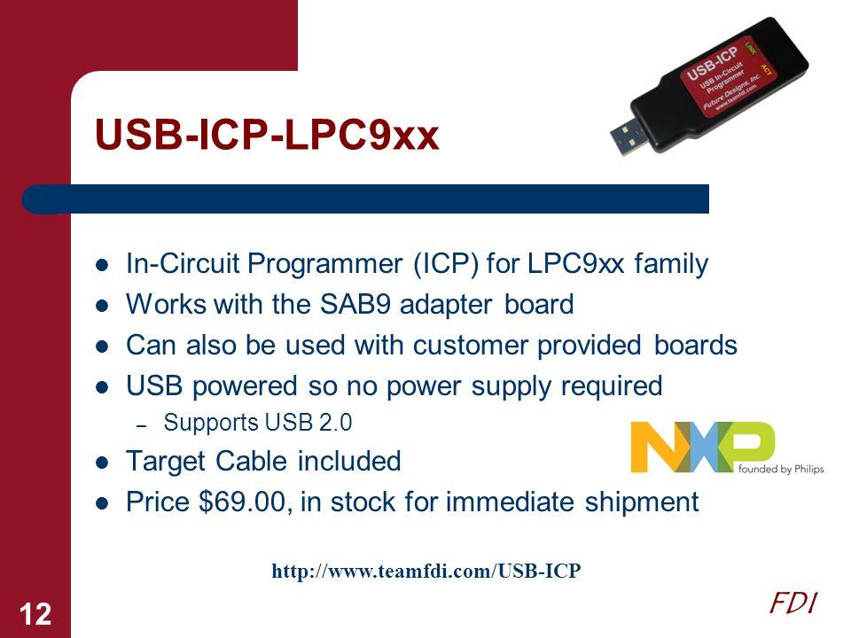 USB-ICP-LPC9xx In-Circuit Programmer (ICP) for LPC9xx family