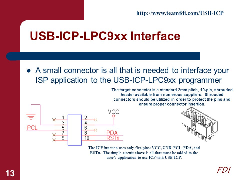 USB-ICP-LPC9xx Interface