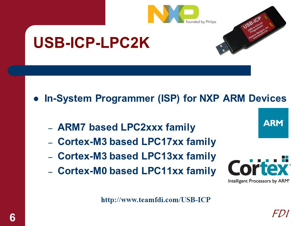 USB-ICP-LPC2K In-System Programmer (ISP) for NXP ARM Devices
