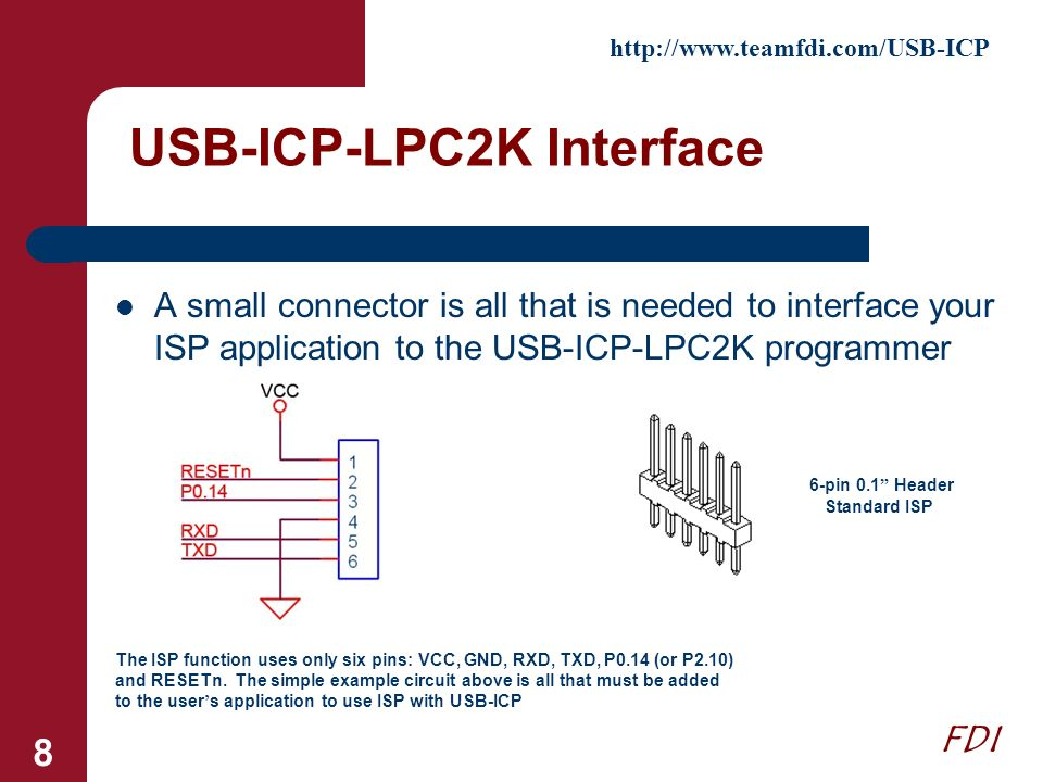 USB-ICP-LPC2K Interface