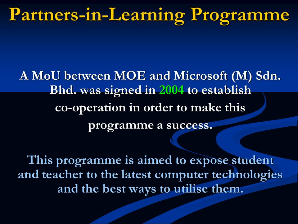 Partners-in-Learning Programme