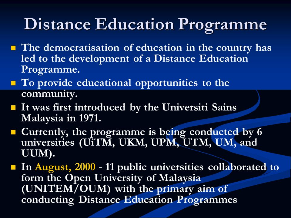 Distance Education Programme