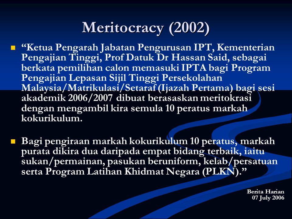 Meritocracy (2002)