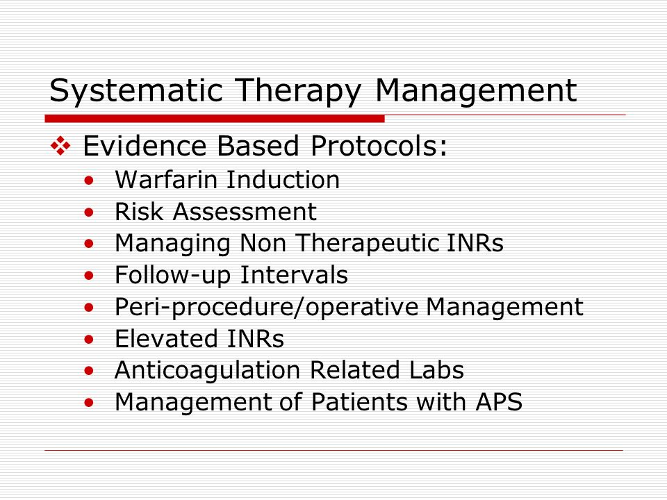 Systematic Therapy Management