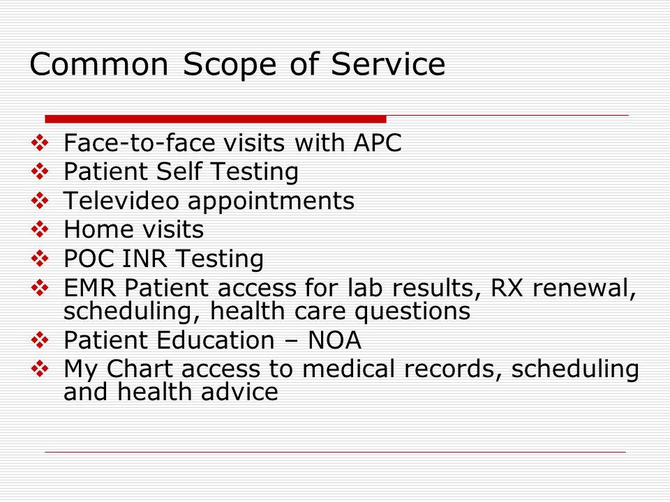 Common Scope of Service