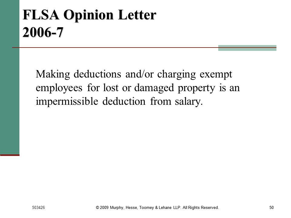 FLSA Opinion Letter 2006-7