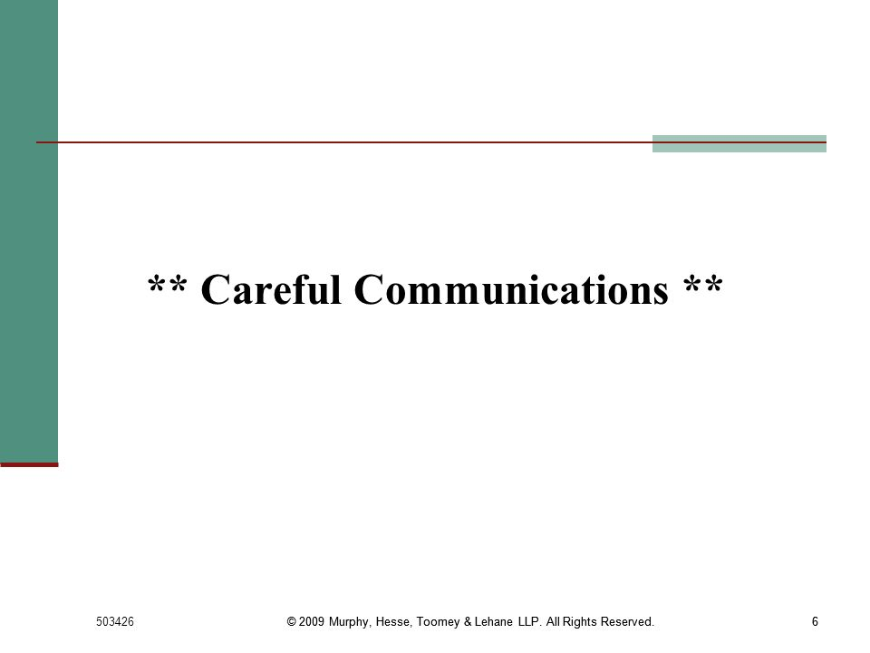 ** Careful Communications **