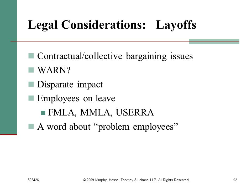 Legal Considerations: Layoffs