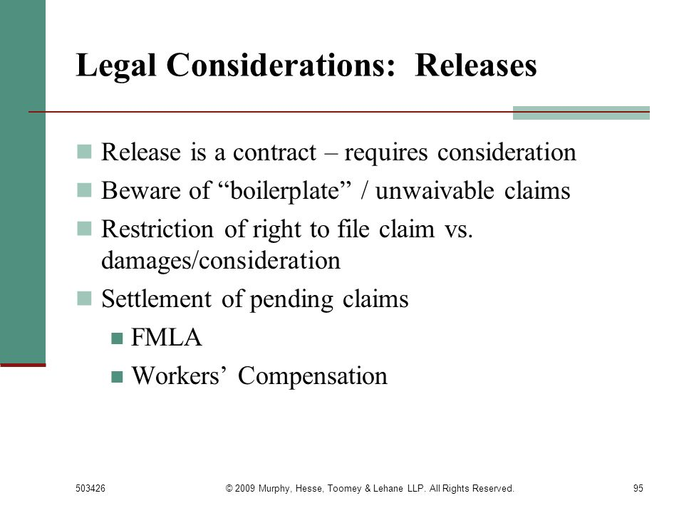 Legal Considerations: Releases