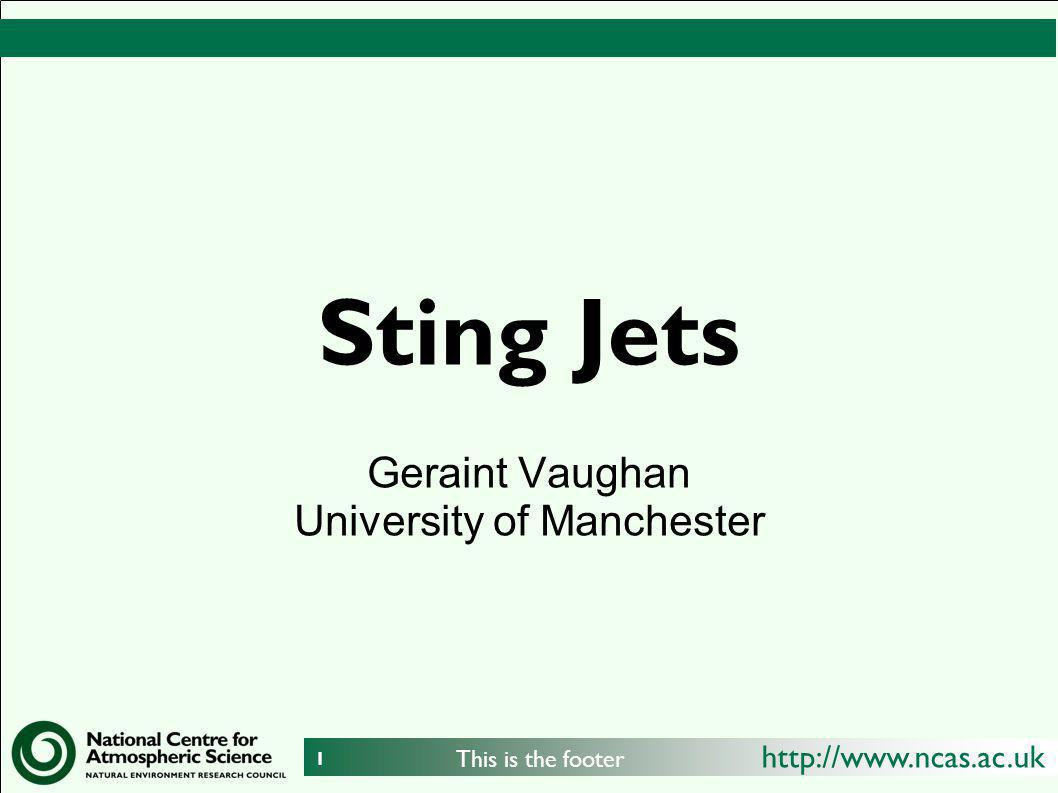 Geraint Vaughan University of Manchester