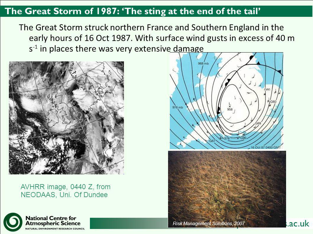 The Great Storm of 1987: 'The sting at the end of the tail'