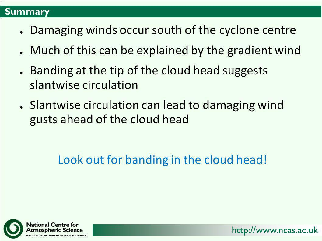 Look out for banding in the cloud head!