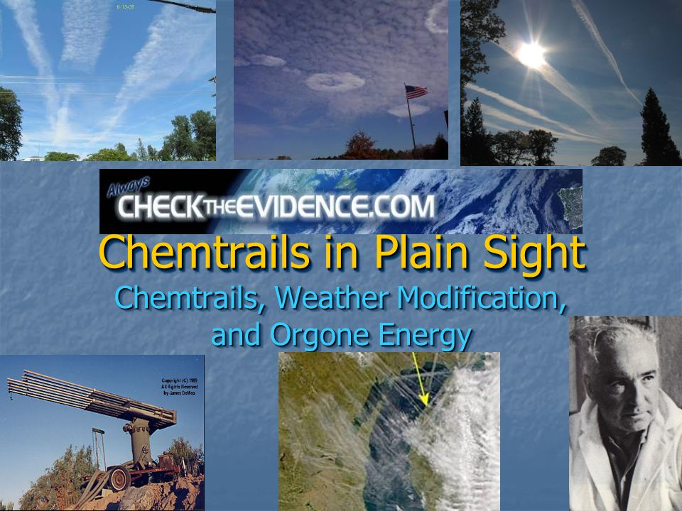 Chemtrails in Plain Sight