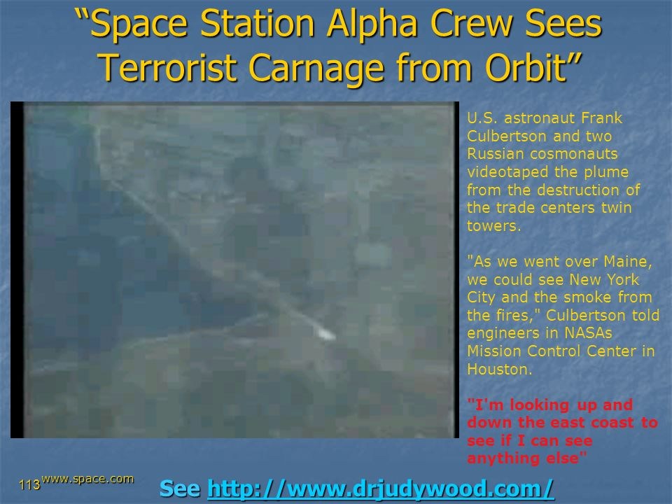Space Station Alpha Crew Sees Terrorist Carnage from Orbit