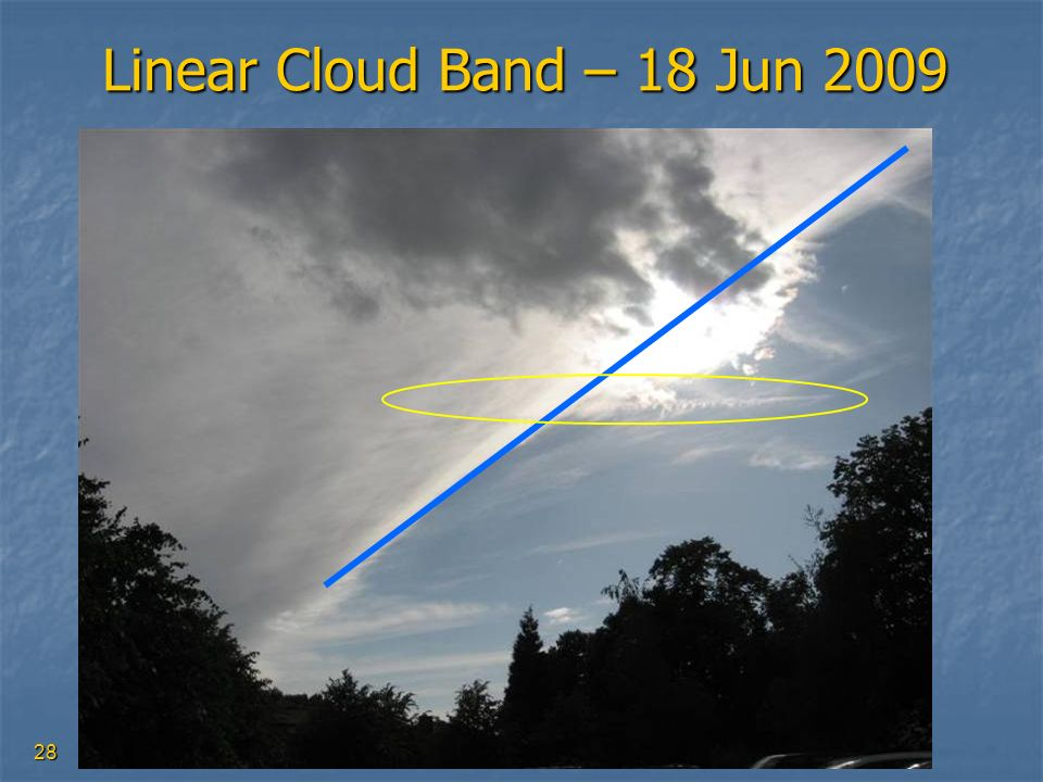Linear Cloud Band – 18 Jun 2009