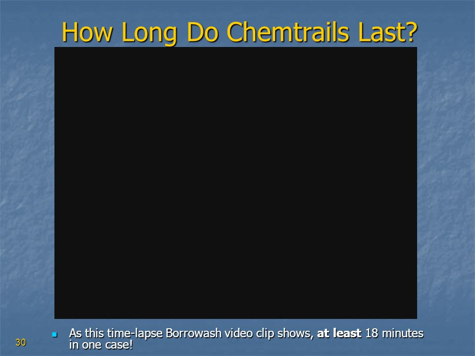 How Long Do Chemtrails Last