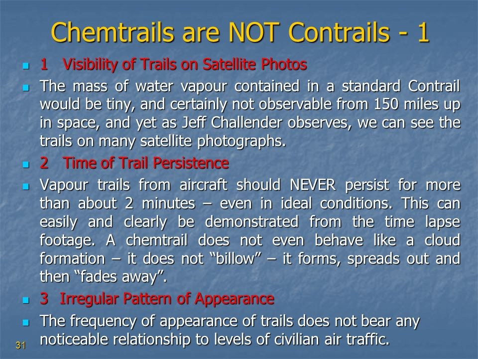 Chemtrails are NOT Contrails - 1