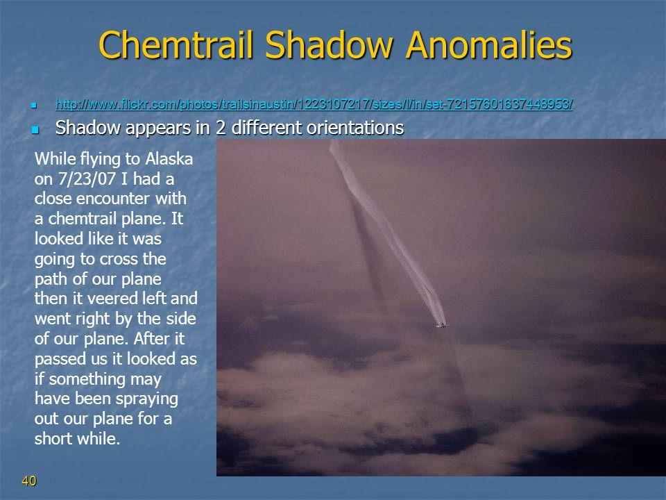 Chemtrail Shadow Anomalies