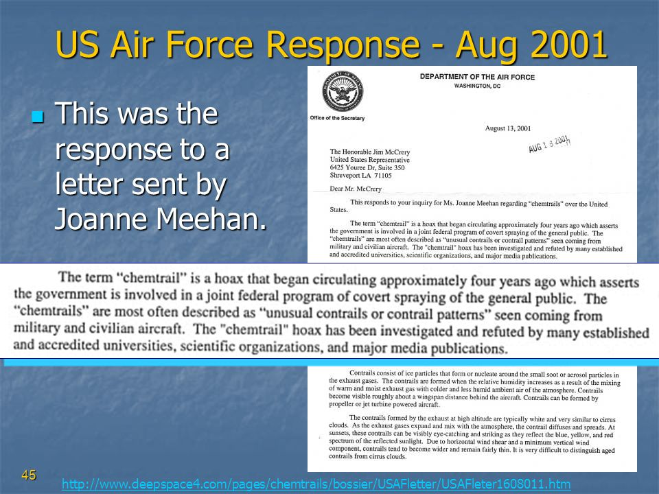 US Air Force Response - Aug 2001