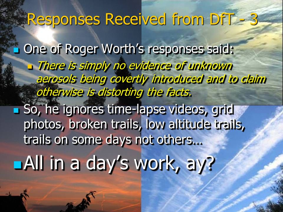 Responses Received from DfT - 3