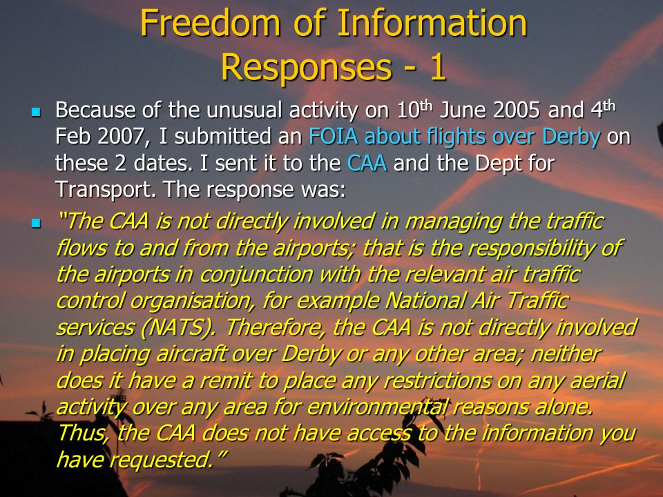 Freedom of Information Responses - 1