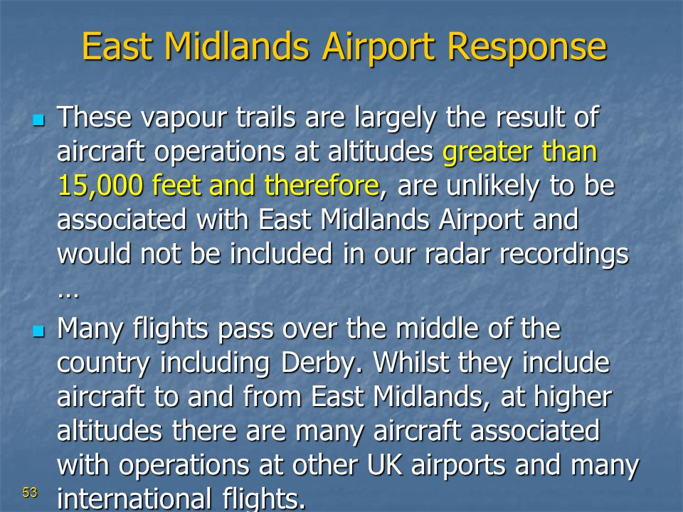 East Midlands Airport Response
