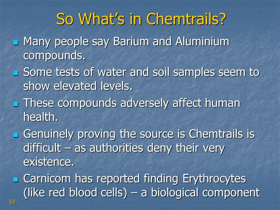 So What's in Chemtrails
