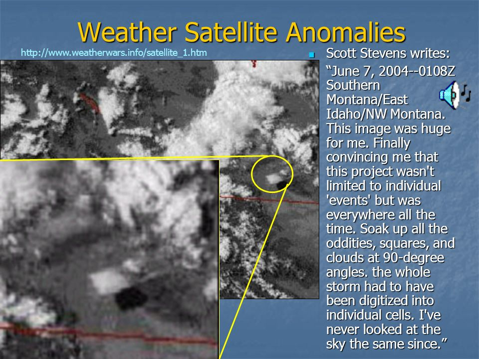 Weather Satellite Anomalies