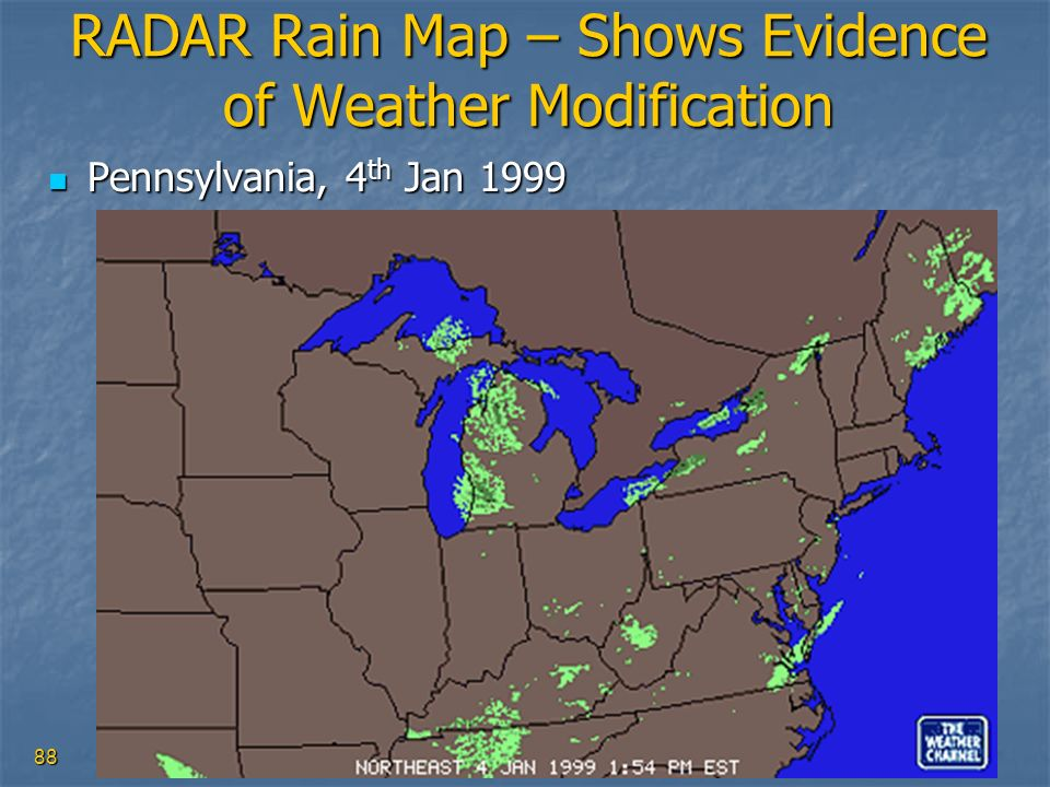 RADAR Rain Map – Shows Evidence of Weather Modification