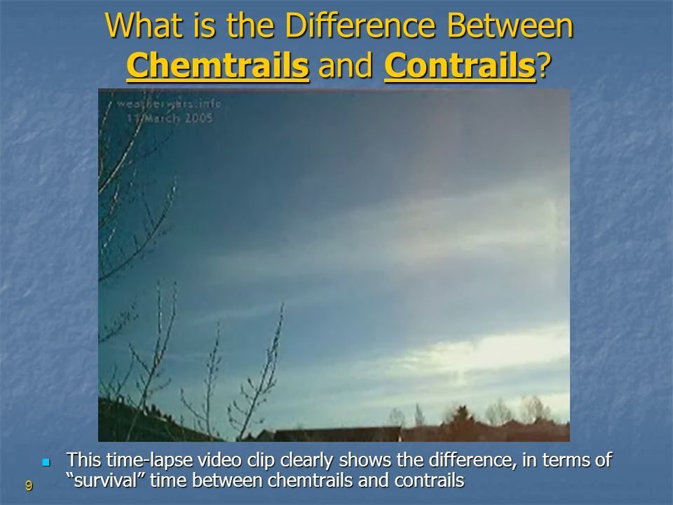 What is the Difference Between Chemtrails and Contrails