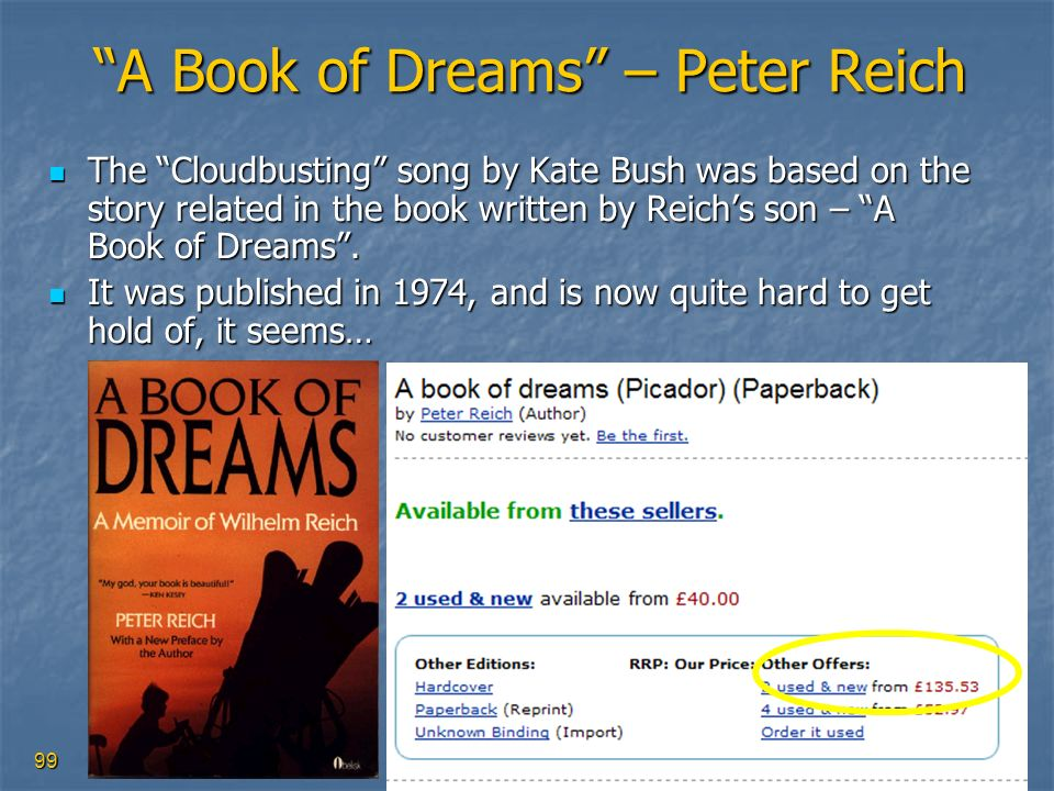 A Book of Dreams – Peter Reich