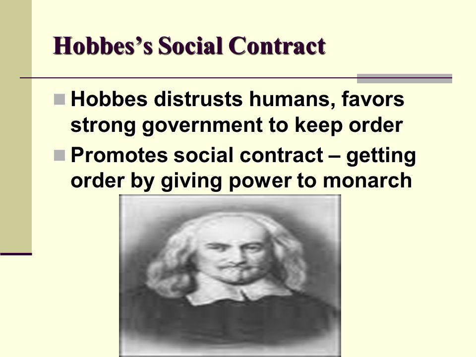 Hobbes's Social Contract