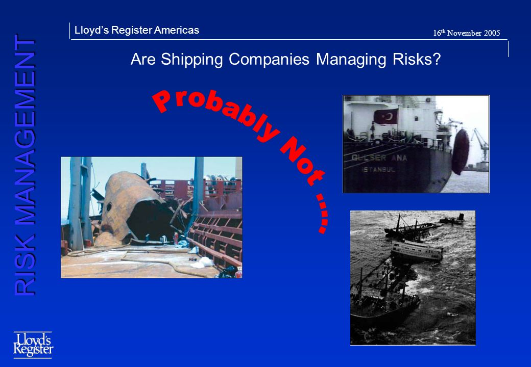 Are Shipping Companies Managing Risks