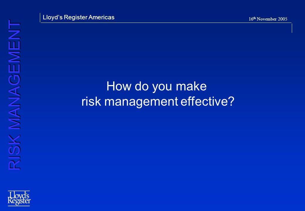 risk management effective