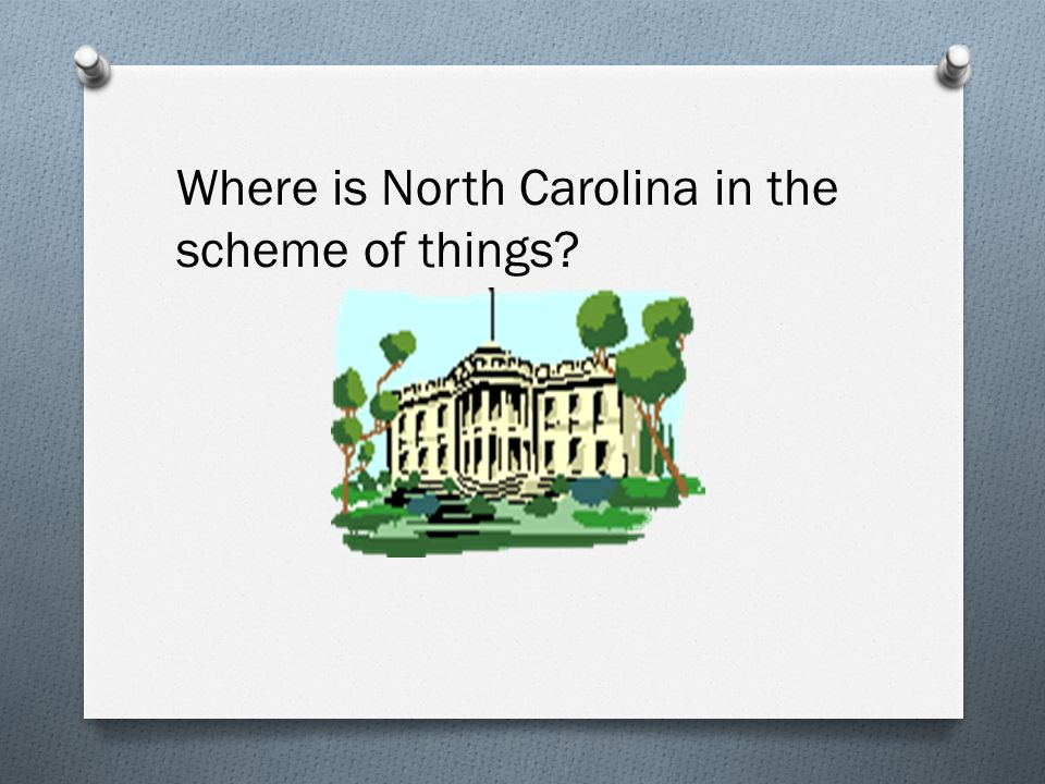 Where is North Carolina in the scheme of things
