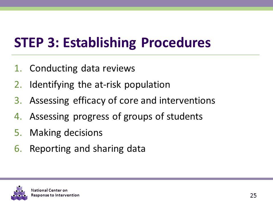 STEP 3: Establishing Procedures
