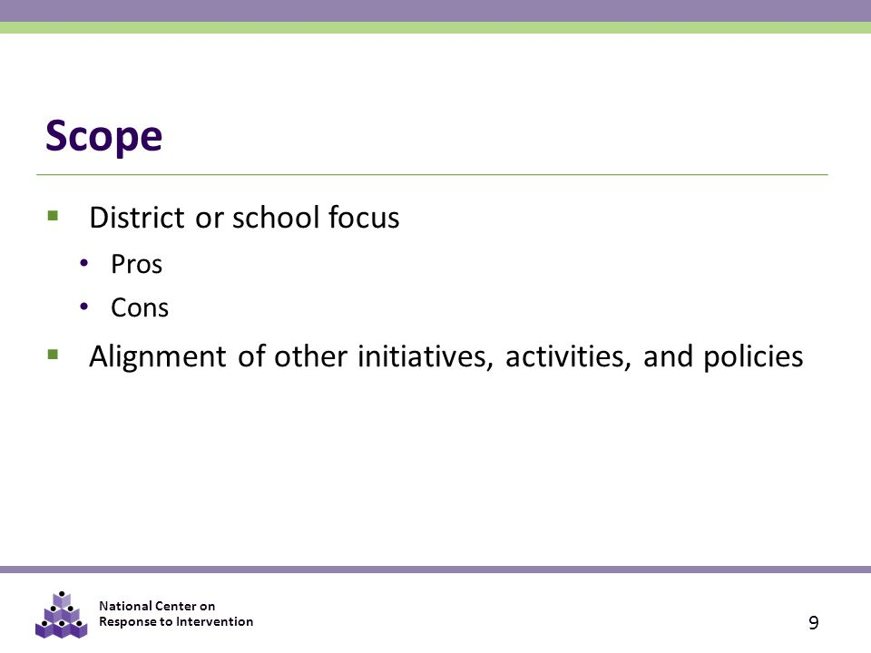 Scope District or school focus
