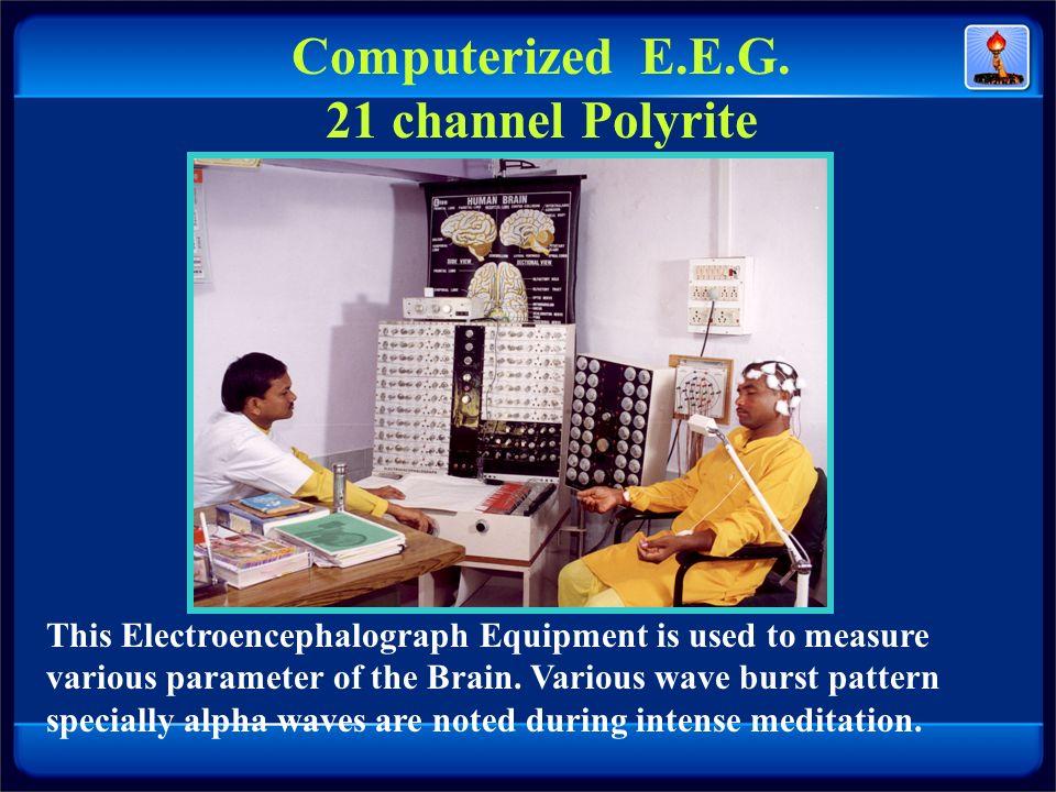 Computerized E.E.G. 21 channel Polyrite