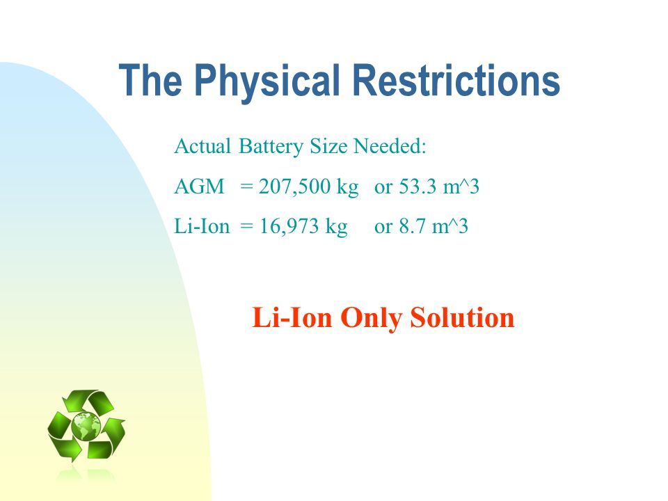 The Physical Restrictions