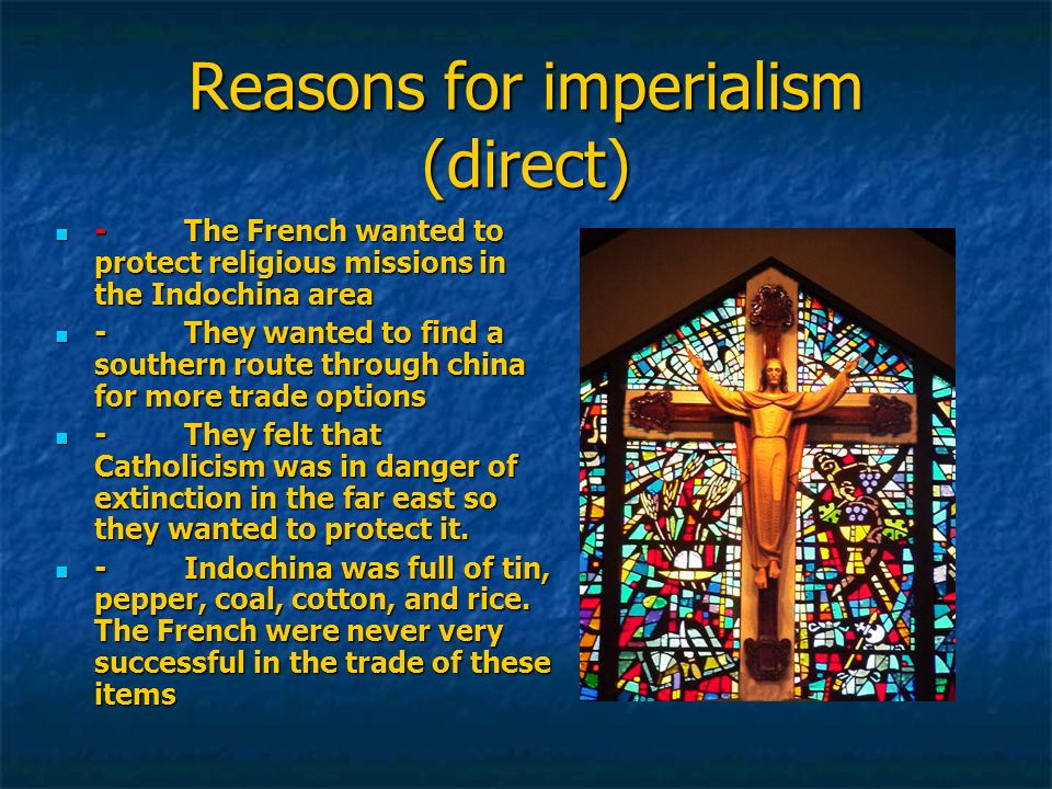 Reasons for imperialism (direct)