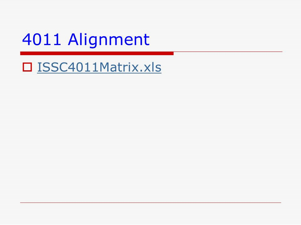 4011 Alignment ISSC4011Matrix.xls