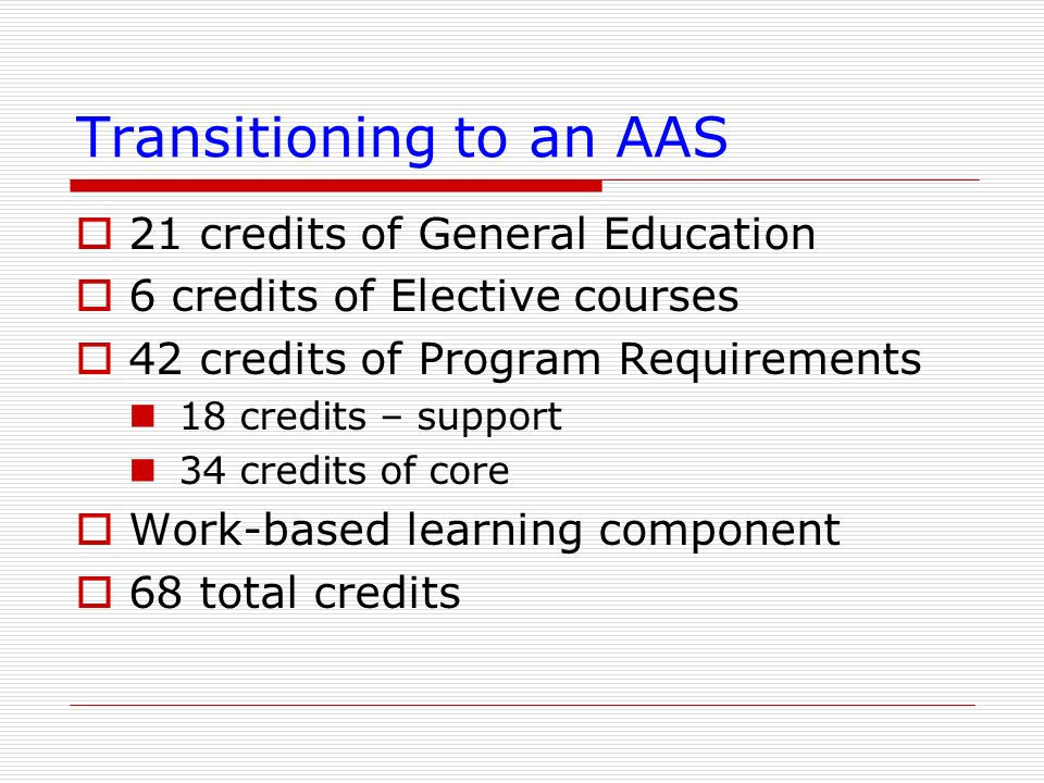 Transitioning to an AAS
