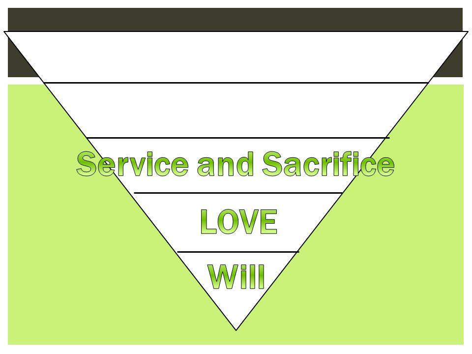 Service and Sacrifice LOVE Will
