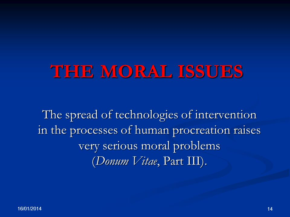 the moral issues