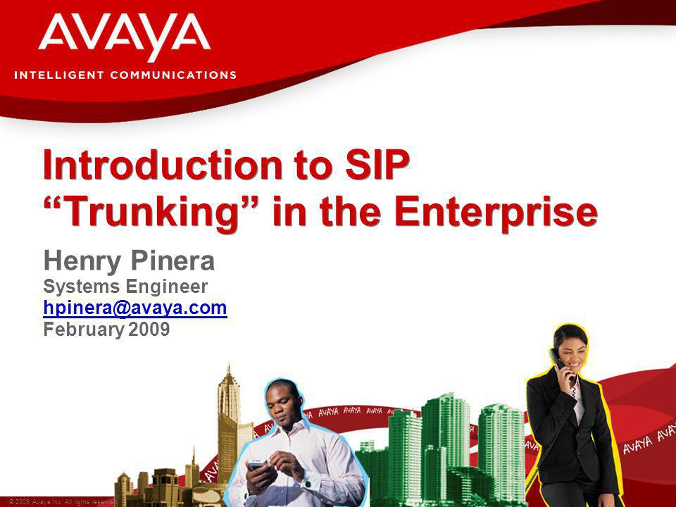Introduction to SIP Trunking in the Enterprise