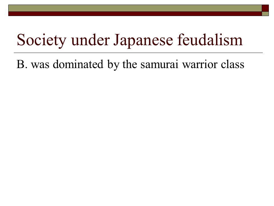 Society under Japanese feudalism
