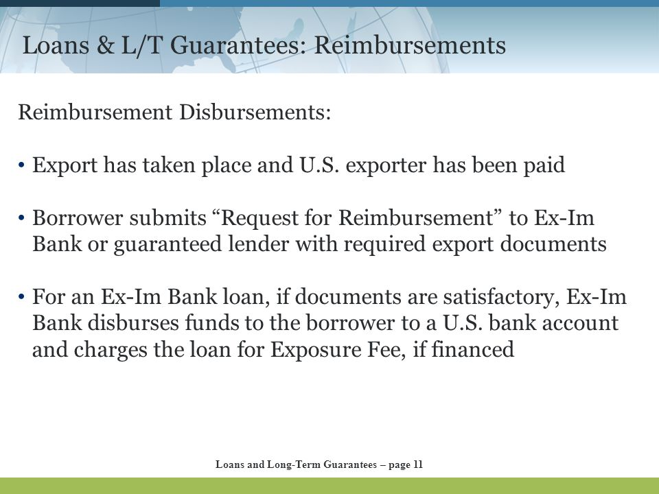 Loans & L/T Guarantees: Reimbursements